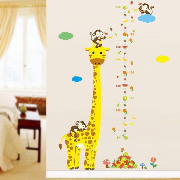 art, Stickers, kids wall stickers, growthchartheightmeasure