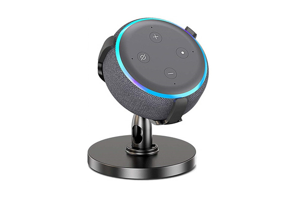 AutoSonic Table Stand Holder Accessories for Echo Dot Stand for Echo Dot 3rd Gen Anti-Slip Base 360 Degree Rotation Swivel,Tilt Function