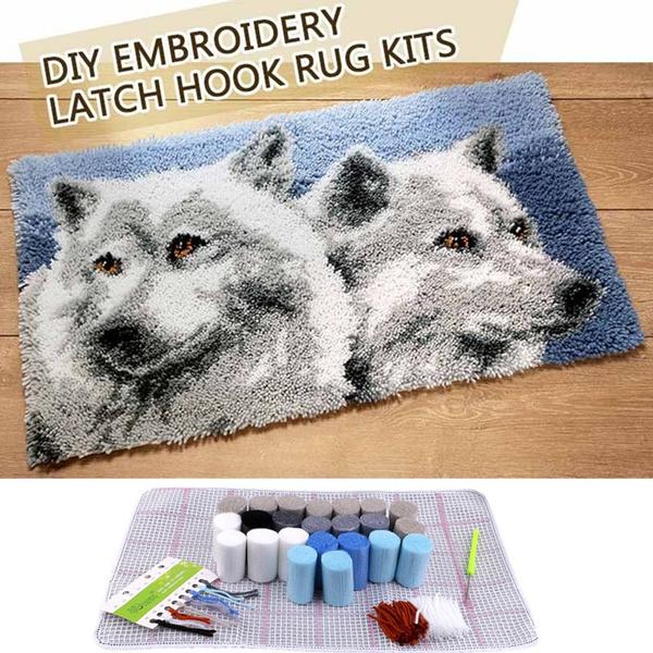 latchhookkit, Decor, Home Decor, knittingwool