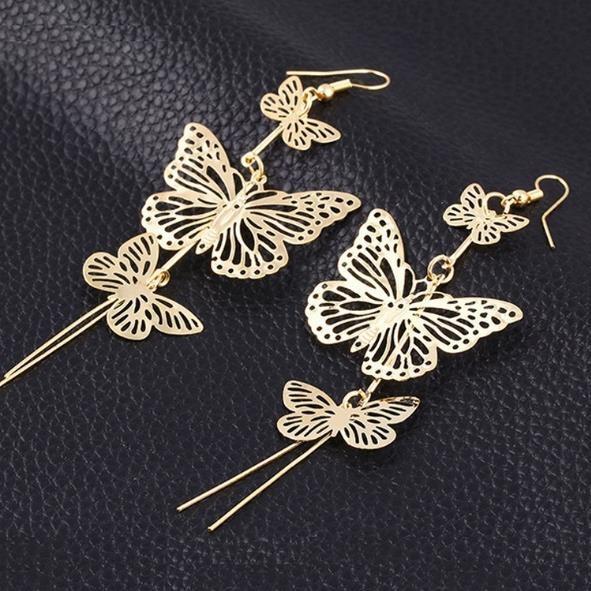 butterfly, Sterling, Tassels, 925 sterling silver