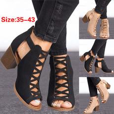 Summer, Fashion, Women Sandals, fishmouthsandal