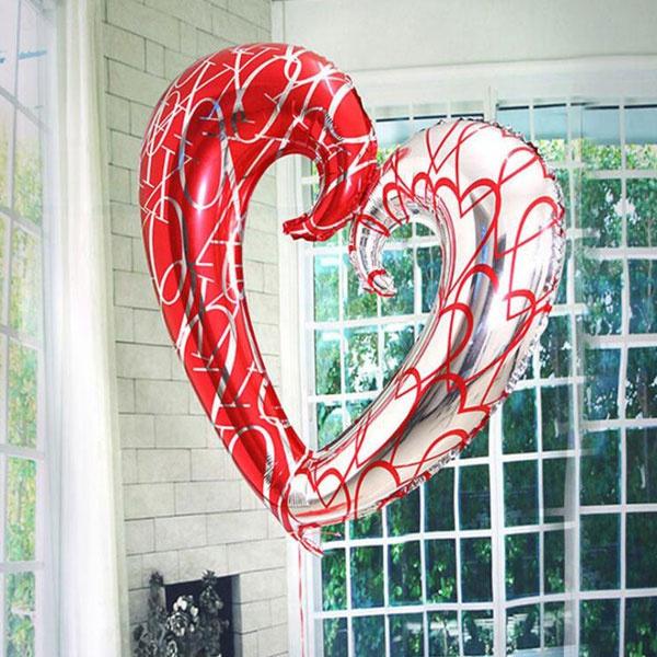 christmasballoon, heliumfoilballoon, Home Decor, Heart