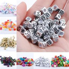 acrylicbead, Jewelry, lettersbead, diybead