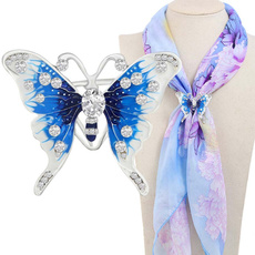 butterfly, Fashion, scarf clip, scarves for women