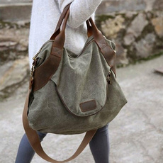 largepurse, Capacity, leather, Canvas