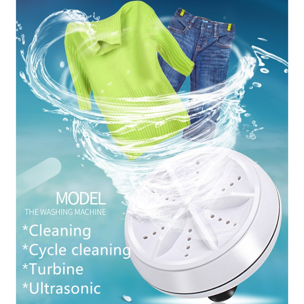 Mini USB Washing Machine Portable Rotating Ultrasonic Turbine Washer