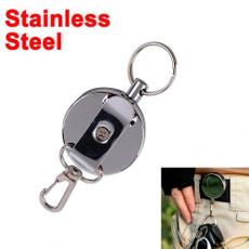 elastickeychain, retractable, portable, badgereel