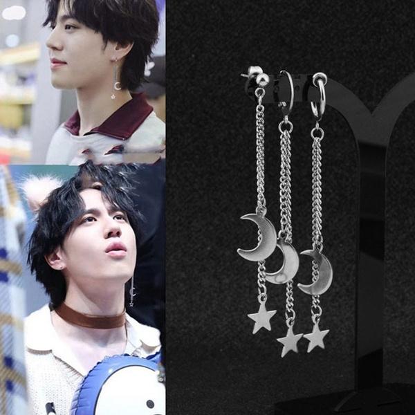 K-Pop, Steel, Fashion, stainless steel earrings