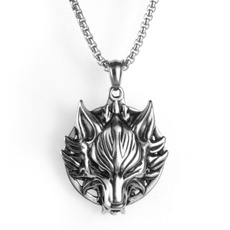 Head, necklaces for men, punk necklace, Jewelry