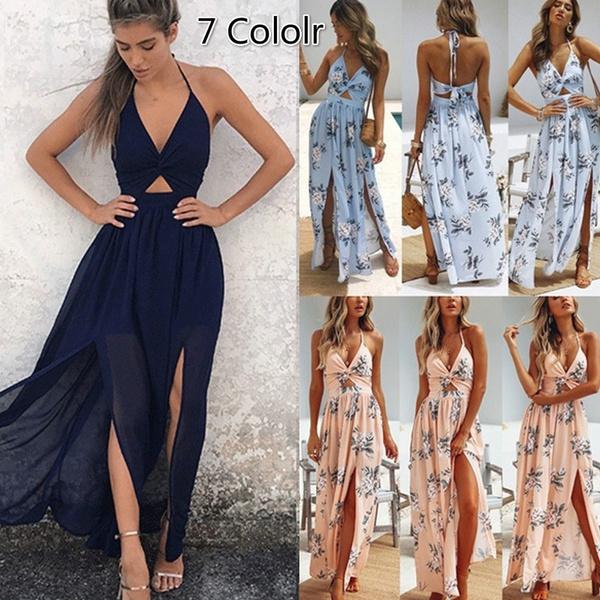 long dress, fashion dress, Dress, Floral dress