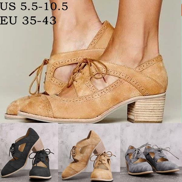 Low Heel Oxford Shoes Women