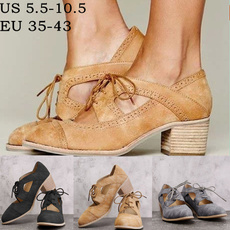 casual shoes, laceupshoe, thickheel, British