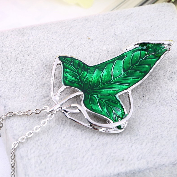 leafpendantnecklace, Chain Necklace, elvennecklace, leaf