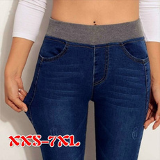 pencil, elastic waist, skinny pants, Elastic