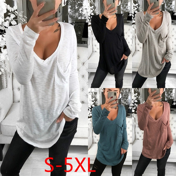 Plus Size, Shirt, Long Sleeve, Spring