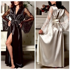 gowns, long dress, Dress, silksleepwear