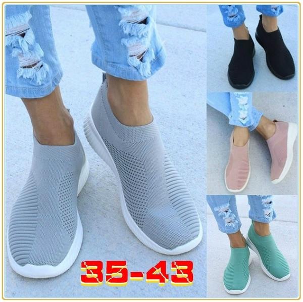 Design Knit Sock Running Shoes Women