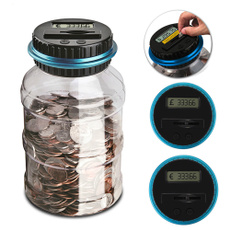 Box, electronicdigitallcdcountingcoin, Jars, coinsstorage