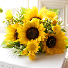 artificialsunflower, 7headsplasticsunflower, Fashion, Home Decor