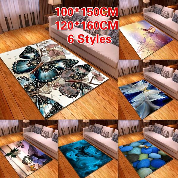 butterfly, bedroomcarpet, Carpet, fluffyrug