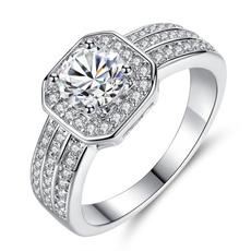 Jewelry, korean style, zircon, Simple