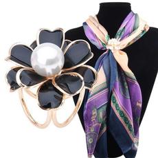 Flowers, elegantjewelry, scarfbrooch, cuteaccessory