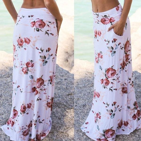 Summer, long skirt, Waist, Skirts
