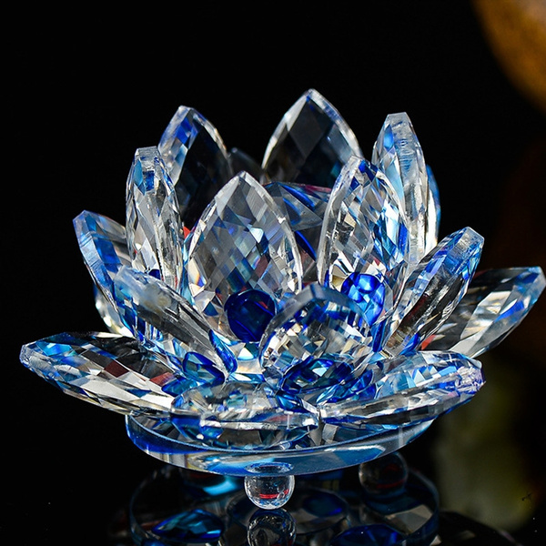 Waltz/&F Crystal Glass Cherry Paperweight Fengshui Craft Home Decoration Ornaments Gift Box(Three sets)
