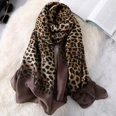 Head, women scarf, leopard print, Leopard