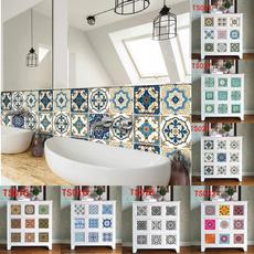 PVC wall stickers, Flowers, geometricpattern, tilesticker