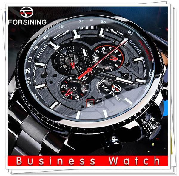 Steel, Men, Casual Watches, business watch