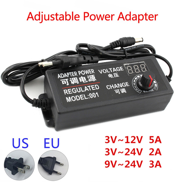 ledstrippowersupply, adjustablevoltageadapter, adjustablepoweradapter, universaladapter