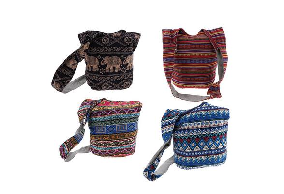Butterfly Crossbody Purse Floral Hippie Hobo Sling Bag Thai Shoulder Handbags
