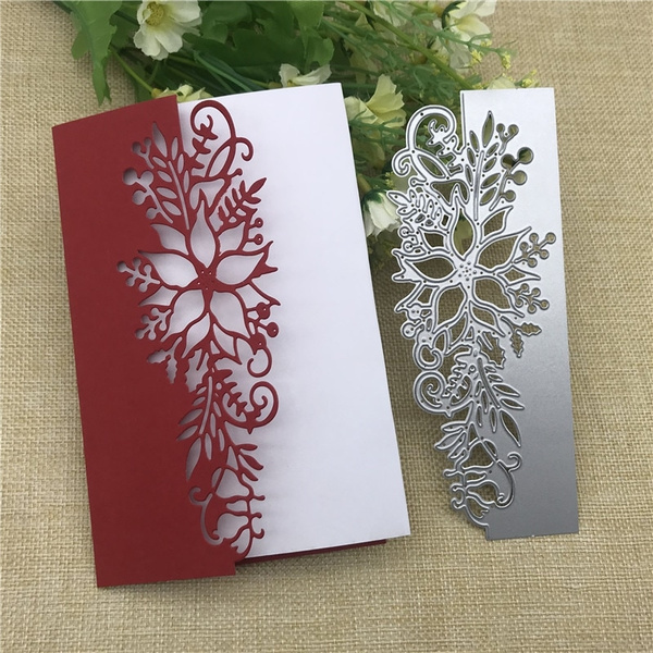 Oyov2L Flower Basket Metal Cutting Die Stencil for Card Making Scrapbooking Photo Album Cards Craft Cutting Dies Handicrafts