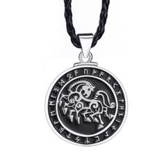 amulet, horse, Men  Necklace, punk necklace