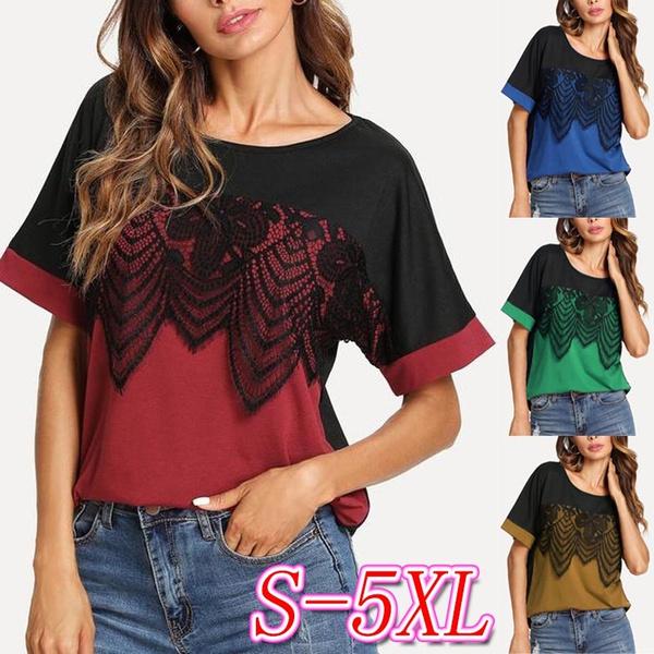 lace t shirt, plussizetshirt, onecktshirt, summer t-shirts