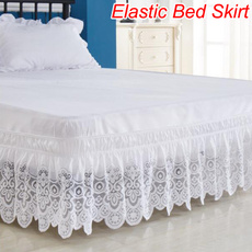 King, bedskirtking, Elastic, lacebedskirt