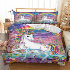 case, rainbow, 3pcsbeddingset, bedclothe