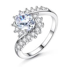 flowershape, Newest, wedding ring, 925 silver rings