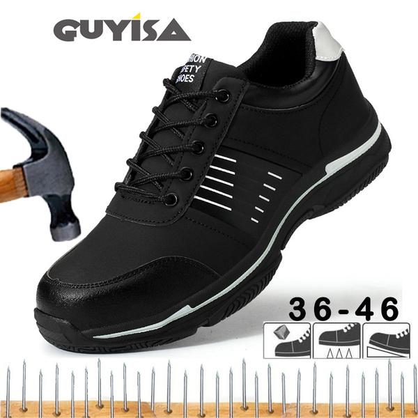 Work Shoes Steel Toe Cap Casual
