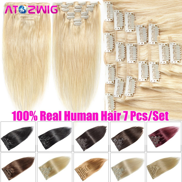 7pcssethairextension, hairextensionsclipin, Head, Women's Hair Extensions