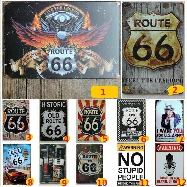 route66, plaquesampsign, Vintage, Metal