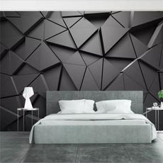 обои, bedroomwallpaper, custommural, Triangles