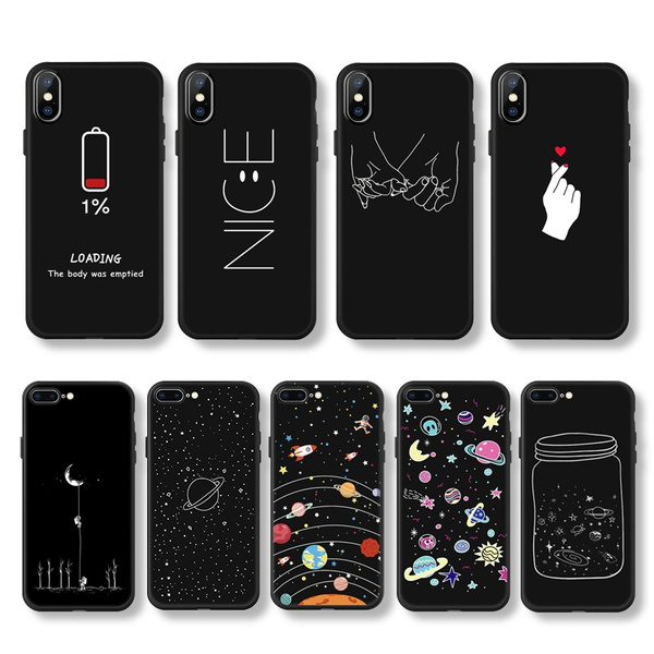 Cute Aesthetic Phone Case For Iphone X Xr Xs Xs Max 5s Se 6 6s 7 8 Plus Soft Tpu Ultra Thin Painted Protective Cover Coque Wish