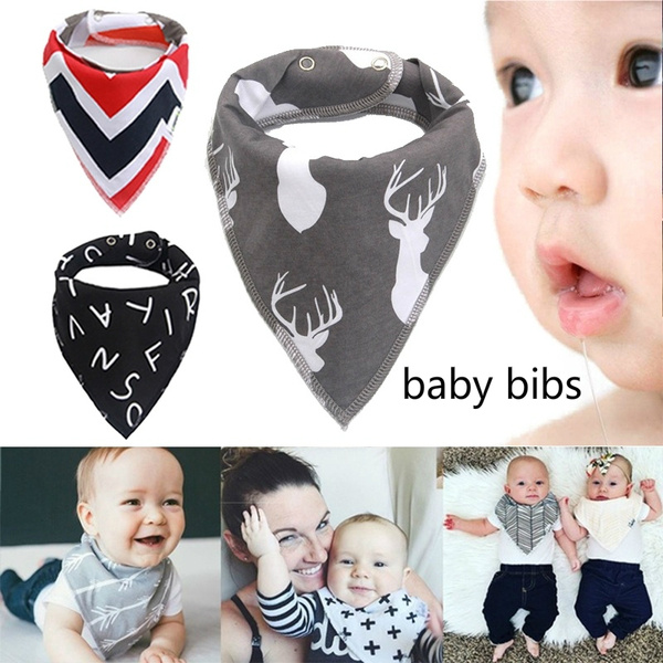 Baby Infant Cotton Bibs Dribble Food Feeding Towel Triangle Scarf Bandana Bib LH