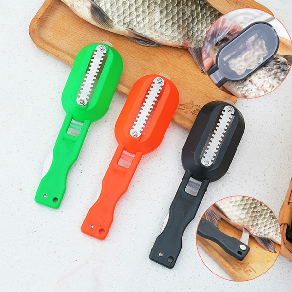 Fish Skin Brush Fast Remove Fish Scale Scraper Planer Tool Fish Scaler Fishing Knife Cleaning Tools Kitchen Cooking Accessorie Wish