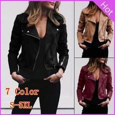 turndown, Plus Size, Spring/Autumn, Casual Jackets