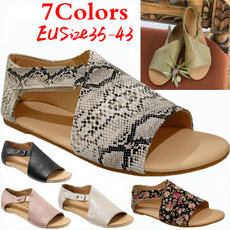 Summer, Sandals, shoes for womens, leather