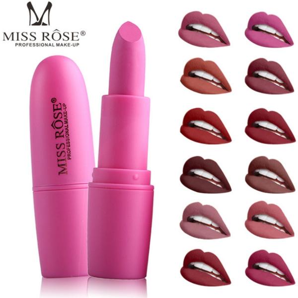 Lipstick, Beauty, Waterproof, Rose