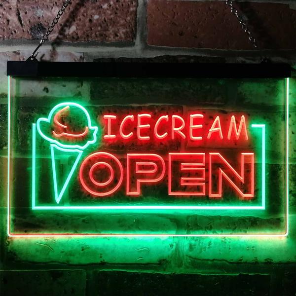 opensign, mancavedecoration, garagedecoration, Ice Cream